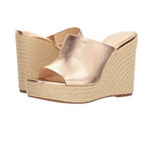 Jessica Simpson Rose Gold Wedges